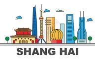 城市矢量图上海图片