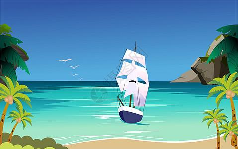 大海 帆船图片