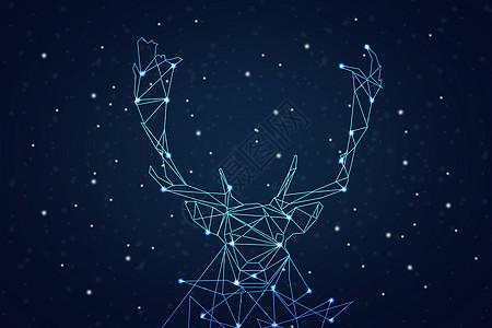 创意星空麋鹿高清图片