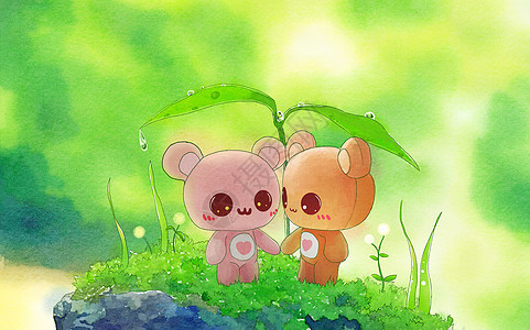 情侣小熊图片