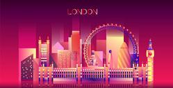 伦敦炫彩建筑图片