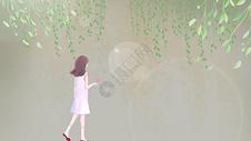 花丛少女图片