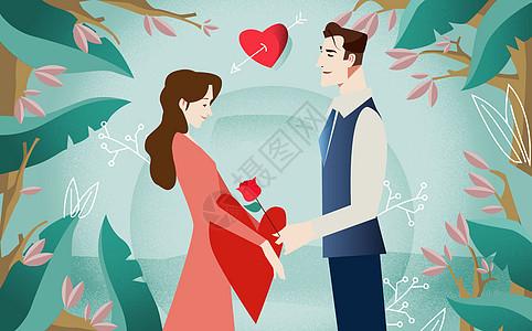 情人节插画图片