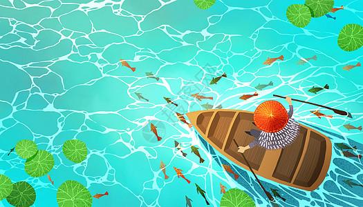 小舟渔歌图片