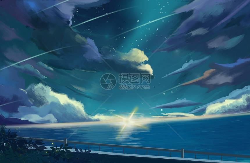 免抠动漫素材_深海夜空插画图片下载-正版图片400100445-摄图网