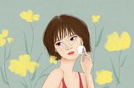 女孩化妆图片