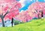 春暖花开立春插画图片