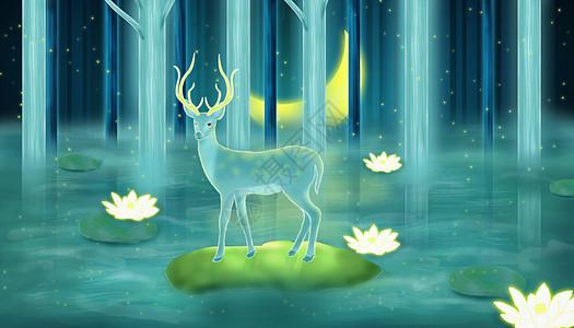 梦幻麋鹿图片