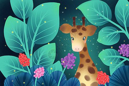 长颈鹿唯美壁纸图片