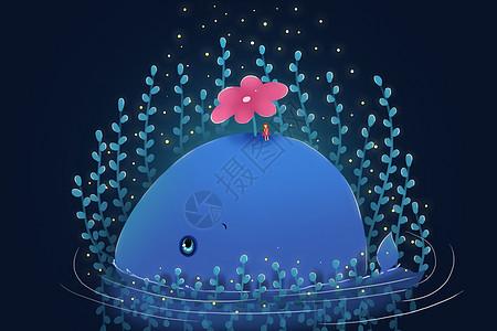 鲸鱼插画图片