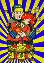 潮流中国风财神爷发红包图片