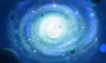 梦幻星空漩涡图片