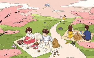 外出野餐图片