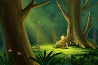 森林里的车站图片