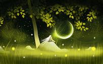 森林里的精灵图片