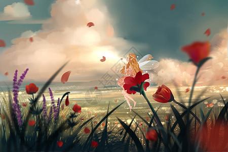 花与精灵图片