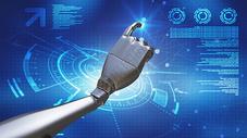 蓝色科技人工智能背景图片