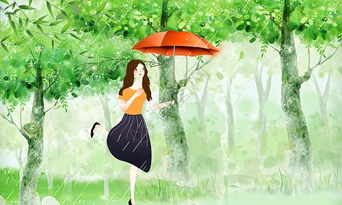 雨水小清新图片