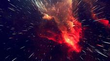 3D炸裂立体放射星云星空背景图片