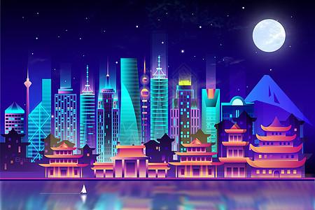 矢量渐变城市图片