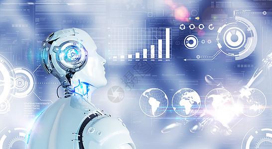 人工智能机器人数据分析图片