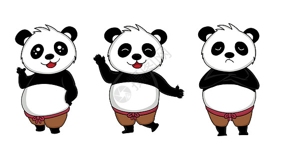 熊猫表情包设计图片