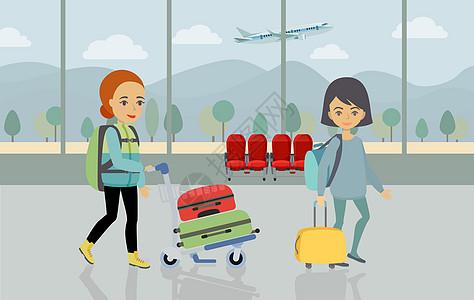 旅行度假插画图片