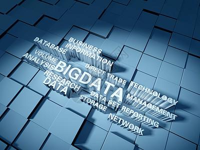 大数据文字建模背景图片