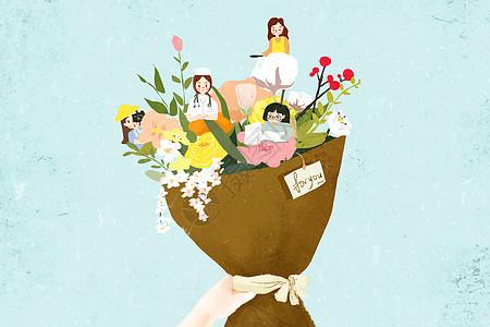 三八妇女节鲜花图片
