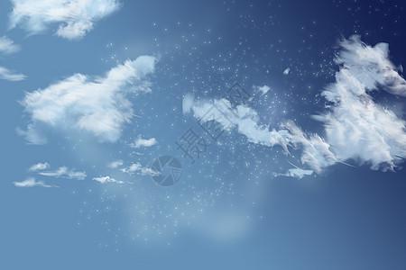 云中的月亮图片