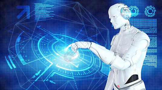 人工智能蓝色科技背景图片