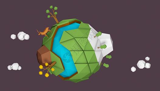 卡通地球环保背景图片