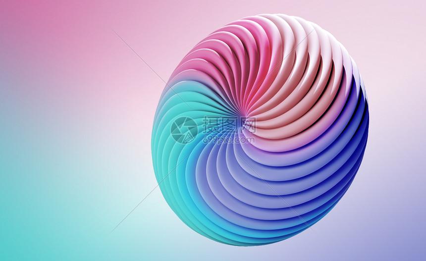 彩虹圈圈渐变背景图片