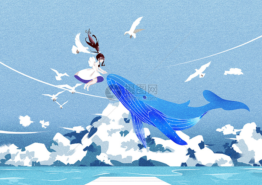 飞鸟与鱼图片