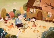 童年回忆插画图片