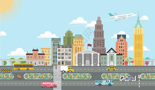 城市交通扁平化图片
