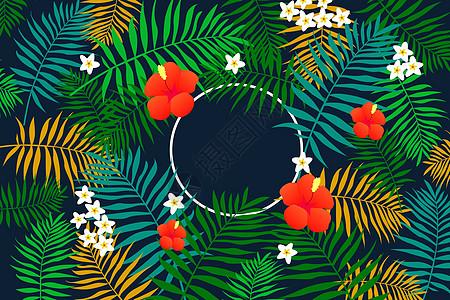 植物绿叶背景元素图片
