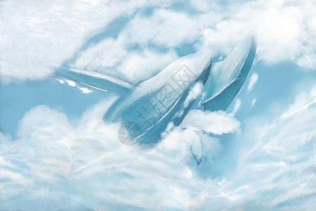 梦幻云中鲸鱼图片