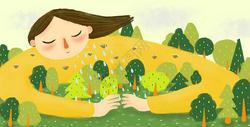 拥抱大自然图片