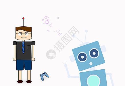 科技智能机器人背景图片