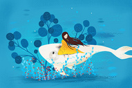女孩与白鲸图片
