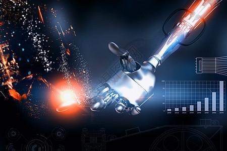 AI智能机器人触碰图片