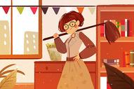 2018原创创意手绘可商用分层三八妇女节插画图片