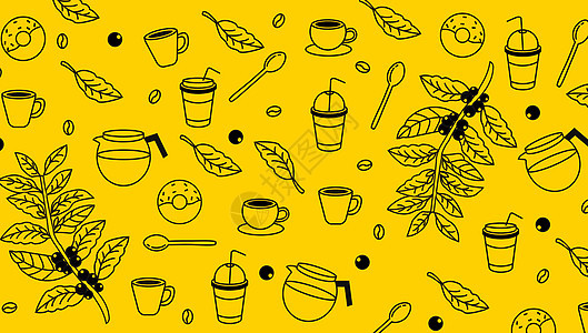 咖啡饮料元素背景图片
