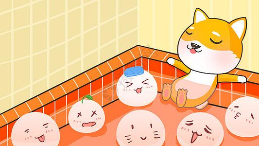 汤圆元宵节手绘插画图片