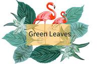 绿植火烈鸟背景图片