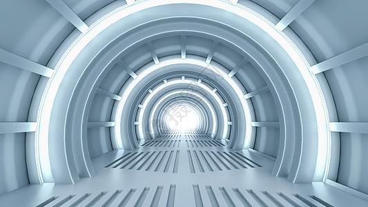 未来科幻隧道图片