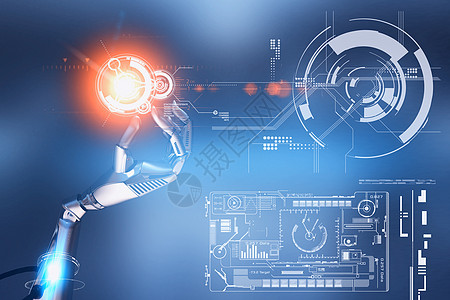 AI智能科技机器人图片