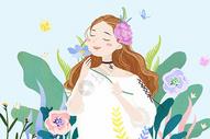 春天里的女孩图片