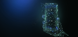 人工智能手机科技背景图片
